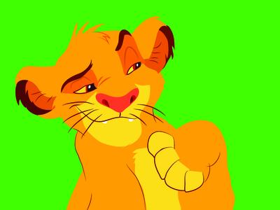 Simba disney illustration animal lion character lion king kids children design