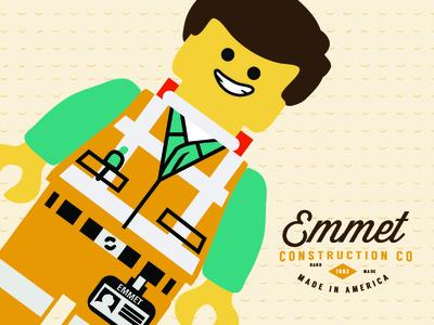 Emmet Construction Co. lego illustration emmet character movie film design children kids
