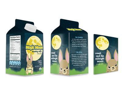 Magic Moon Baby Product, Warming Milk baby packaging product product design package design cute bunny illustration children