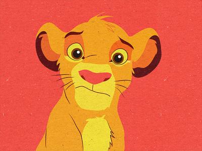 Simba II simba lion king children illustration lion disney animation 90s