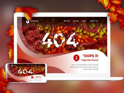 Web Design - Error Page Not Found
