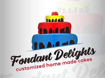 Fondant Delights (Cake Company) backery simple sweet brandidentity brand design unique graphic design creative concept clean logo design branding