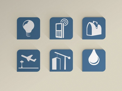 Icon set for Africa resources.