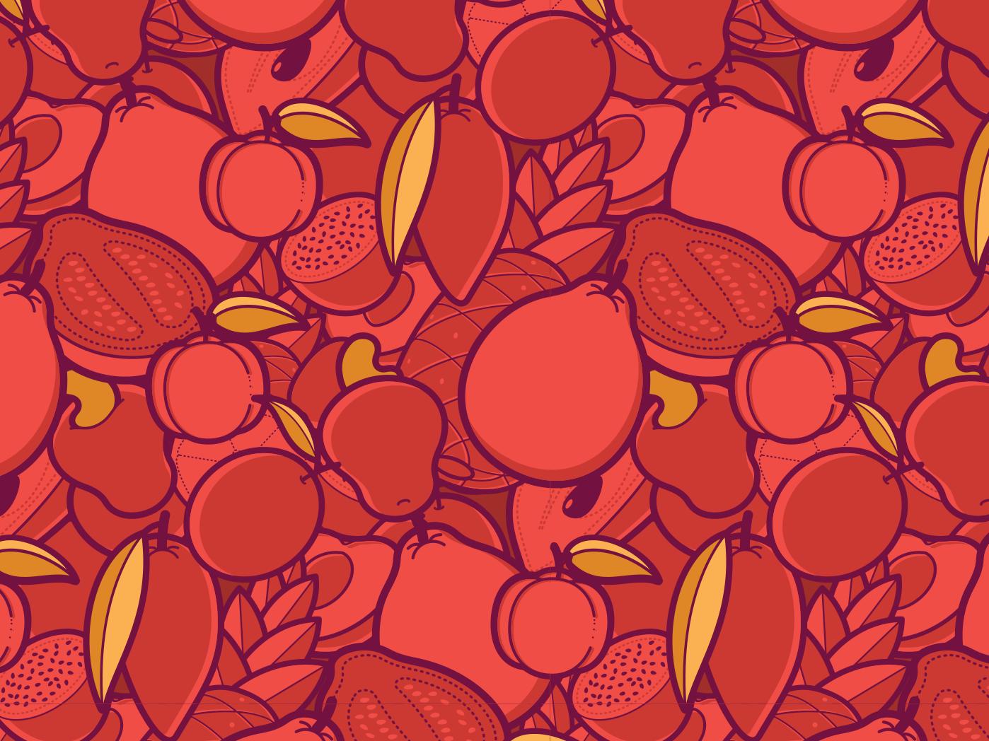 Fruit Pattern #2 illustration design branding package fruit