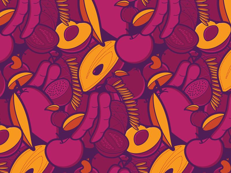 Fruit Pattern #3 illustration vector branding package pattern fruit