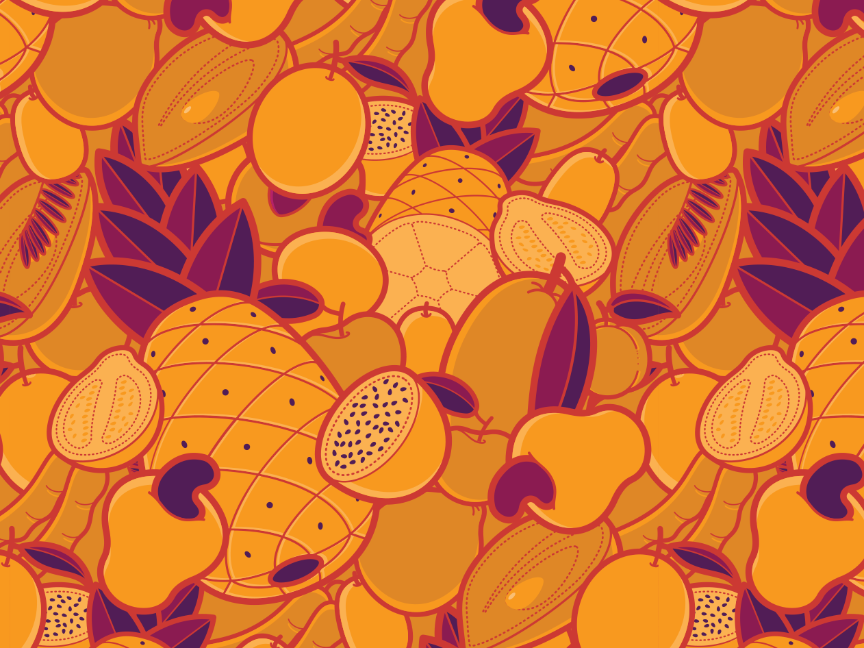 Fruit Pattern #1 illustration vector packaging branding pattern fruit