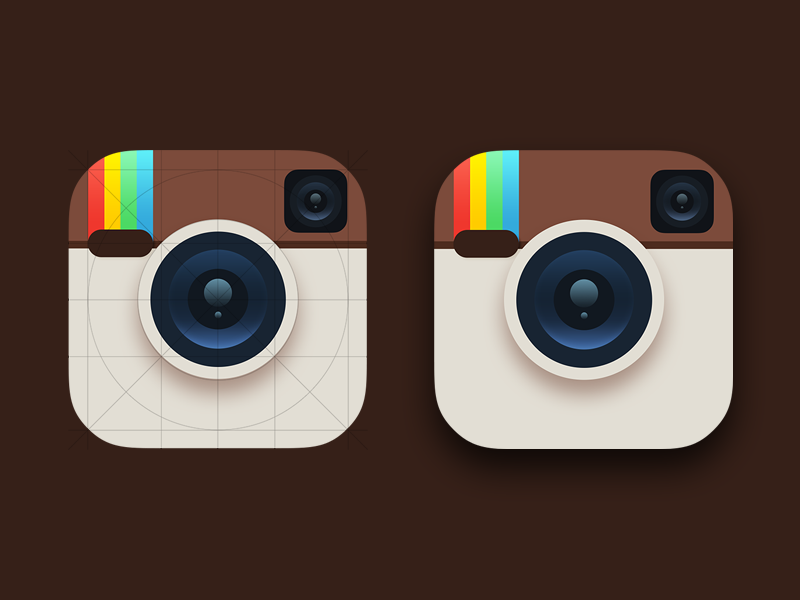 Instagram Icon v2 - iOS7 instagram ios7 icon app flat icon grid grid apple app icon