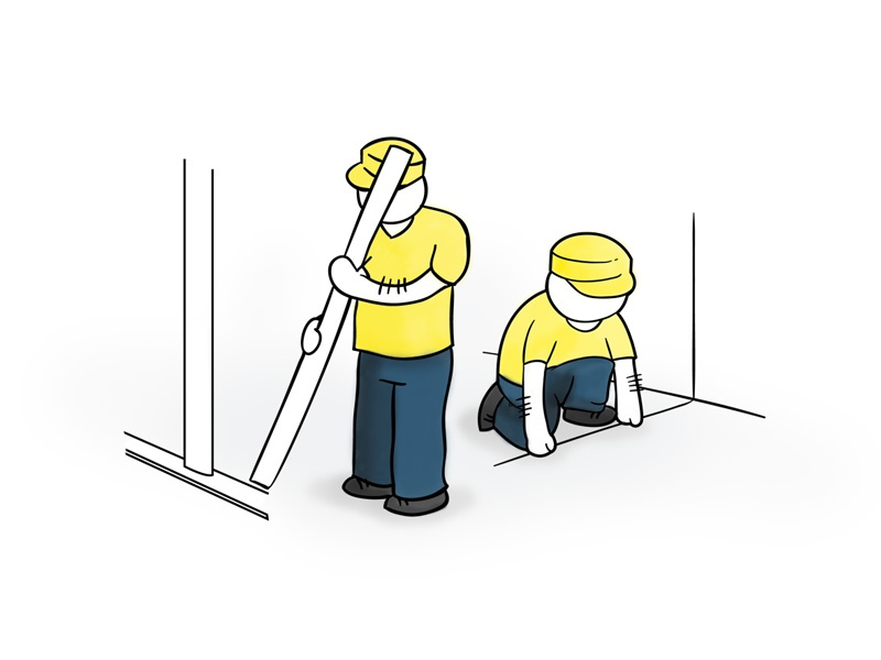 How To - Construction assembly illustration howto infographic working building construction