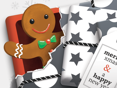 Holidays Card 2016 christmas card card holidays new year christmas man gingerbread