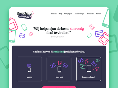 SimOnly Discount logo brand ux ui website simonly interface