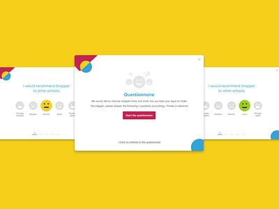 Snappet - Questionnaire satisfaction emoji emotions survey mood questionnaire snappet