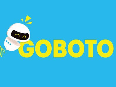 GOBOTO mascot branding rebrand blue green character illustration goboto robot logo