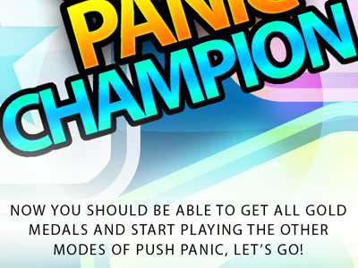 Push Panic - Congratulations push panic game gui interface iphone ios apple congratulations