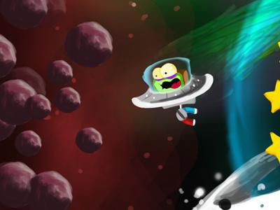 Aaaaaaaaaahhhhh! an alien with a magnet game ios android character concept artwork illustration alien scream