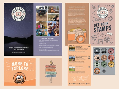 Publication design: 2020 Nebraska Tourism Passport publication design print design graphic design design