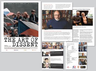 Art of Dissent press kit print design graphic design design publication press kit documentary design publication design