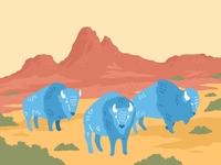 Roaming Bison Sticker Design illustration digital digital art design graphic design nature illustration art procreate art procreate bison sticker sticker design