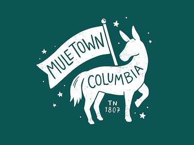 Muletown, Tennessee procreate drawing freelance sticker tshirtdesign identity branding tourism design graphic design branding illustration art