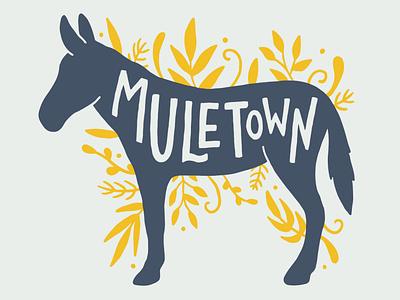 Muletown, Tennessee floral sticker tourism procreate art procreate branding design graphic design drawing illustration art