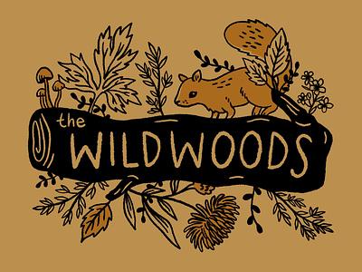 The Wildwoods T-shirt procreate graphic design design drawing nature illustration art t-shirt