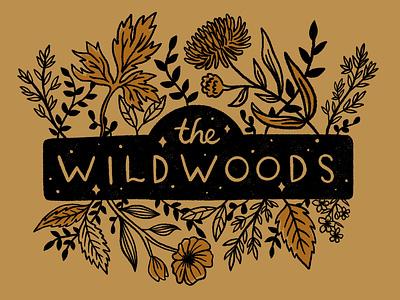 The Wildwoods T-shirt version 2 graphic design hand drawn illustration art drawing procreate nature