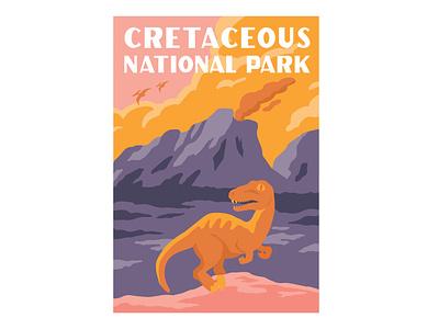 Cretaceous Park sticker sticker design art dinosaur graphicdesign sticker