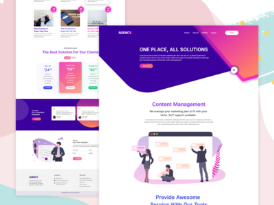Home page for Marketing Agency