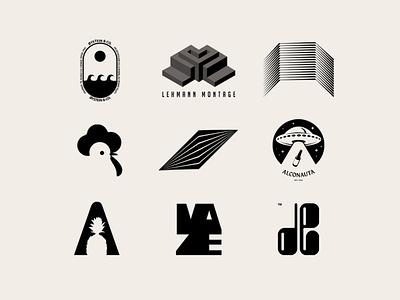 Modern Logos brand marks logodesign ufo monogram monochrome geometry mark logofolio icons logotype bold logos minimal negative space modern logo design black vector