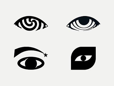 Eye Logos logofolio saturn monochrome sale star comet fat bold illusion design modernism logotype logo eye mark icon space black illustration vector
