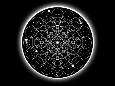 BLACK HOLE surreal photoshop dark pattern white eclipse t-shirt typography circle ornament blackhole jellyfish black night space