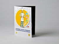 French Pastry Association, leaflet print illustration advertising mailing