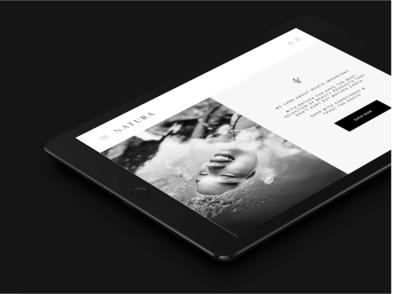 Natura - Website Homepage