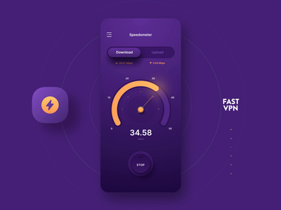 VPN App Design IOS vpn internet test speed chart motion ios7 ios data business sketch clean adobe photoshop icons design ux app ui