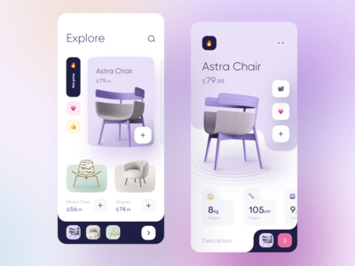 Furniture Store App design