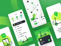 Kiwi App Design for Rent Scooters