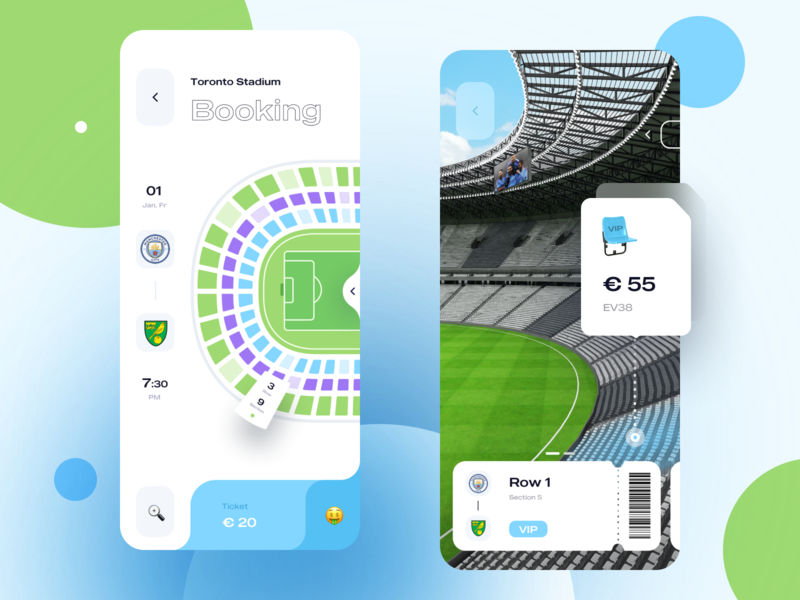 Took Football Tickets | App Design booking stadium ticket football illustration typography vector sketch adobe photoshop icons design ux app ui