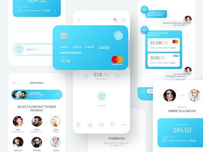 Ultimate Payment App Design business mode purple light app mobile design ui ux dashborad creditcard transfer paymentscreen money banking payment adobe photoshop sketch