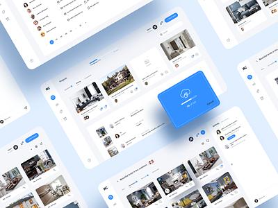 Platform for photographers and retouchers dashboard blue clean upload crm retoucher photographer platform sketch design app ux ui
