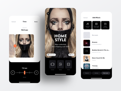 Stories for Instagram | Ios App Design dribbble popular shot split rotate trim video editor editing post stories instagram clean icons sketch design app ux ui