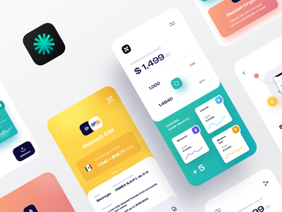 Kapital Wallet | Crypto Currency App Design charts wallet rate exchange currency crypto analytics dashboard clean adobe photoshop sketch design app ux ui