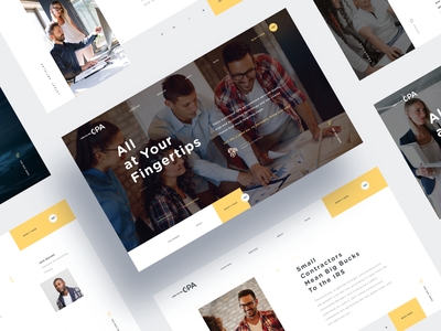 CPA Business Website finance product landing page business website taxes cpa consultation advertiser ux ui design web clean concept sketch