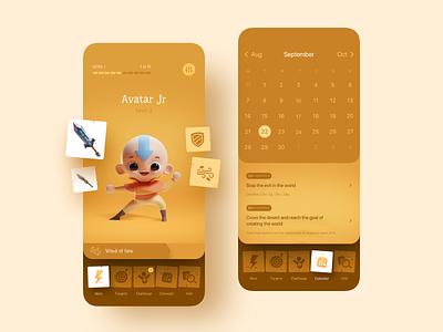 Challenge Me IOS App Design ux ui illustration icons dashboard sketch targets task manager planner reminder challenges tasks colander design ios app