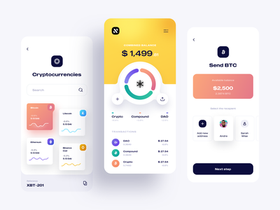 Kapital Wallet | Crypto Currency App Design ios business finance wallet ux ui sketch rate exchange design dashboard cryptocurrency clean analytics bitcoin chart mobile app