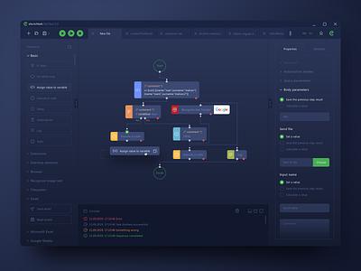 RPA Platform Design dashboard clean app website web design web ux ui sketch rpa robots coding code design automation artificial intelligence accounting