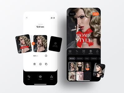 Stories for Instagram | Ios App Design ux ui templates popular shot stories sketch mobile app ios instagram icons frames editing dribbble design minimalistic clean app
