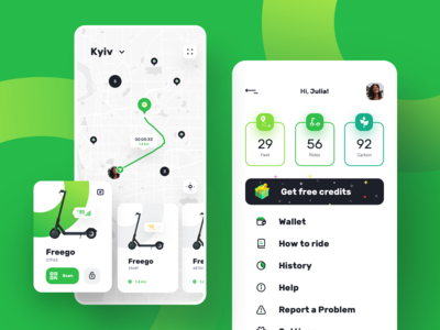 Kiwi | Ios App Design for Rent a  Scooter
