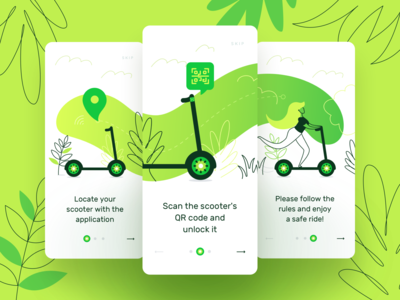 Kiwi App for Rent Scooters I Ios
