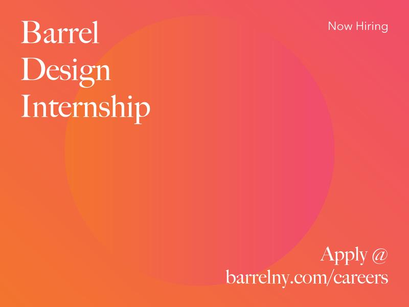 Barrel Design Internship color typography job internship