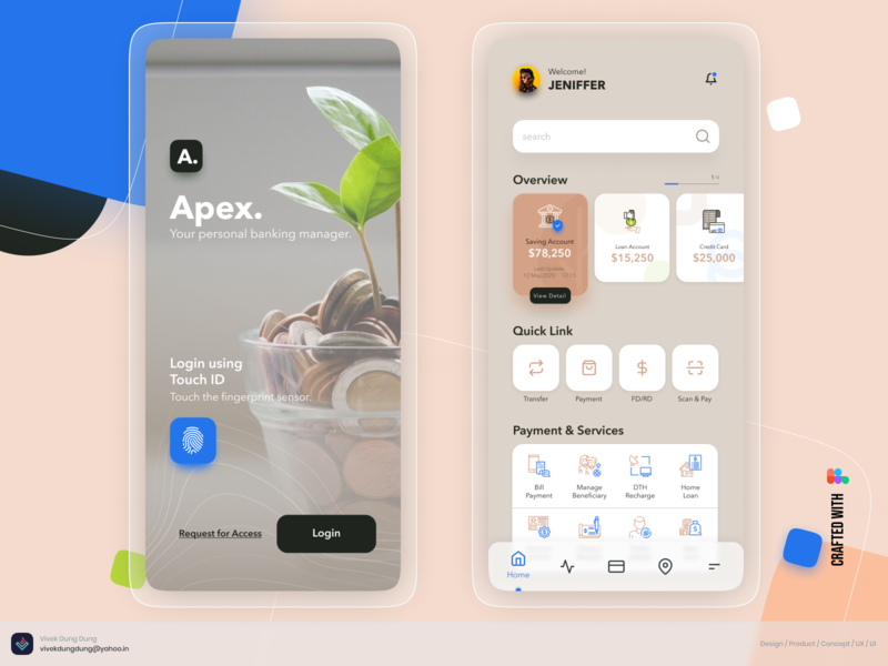 APEX - Digital Banking Service vector illustration concept design loan creditcard debit card growth product design digital payment bill money transfer mobile ui finance ux process ui design ux design banking