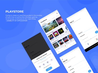 Concept Play Store App Design